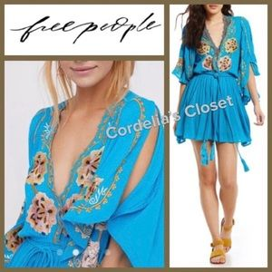 NWT! [ FREE PEOPLE ] Embroidered Floral Tassel S